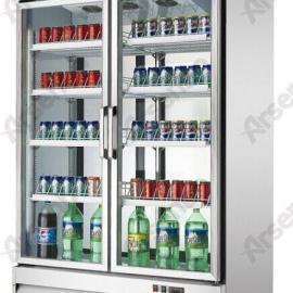 供应佛山超市双通展示柜/前后开门冰箱/后补式冷柜