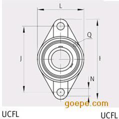 FAG轴承UCFL212-36尺寸规格参数