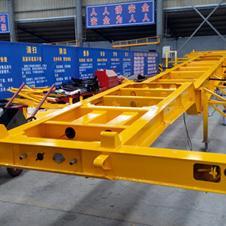 金达橙色53英尺骨架运输半挂车