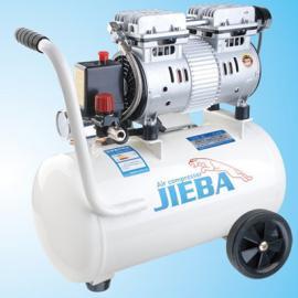杰霸静音无油空压机JB24 无油静音空气压缩机家用木工喷漆