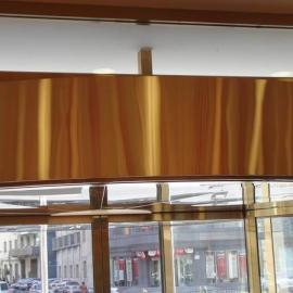 沈阳厂家专业订做宾馆\酒店\银行用弧形转门热风幕机金色外壳