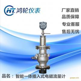 河南仪表厂家直销 大口径管道专用 分体型 插入式电磁流量计