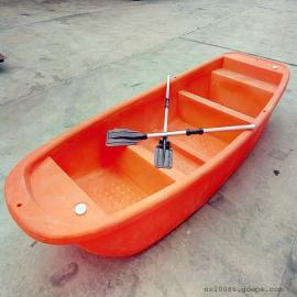 4.1米塑料渔船 牛筋料塑料船 可安装马达