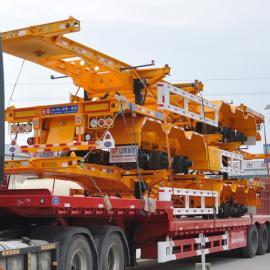 48英尺集装箱骨架车整车展示-山东金达挂车