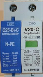 OBO防雷模块-V20-C+NPE,三相防雷C级