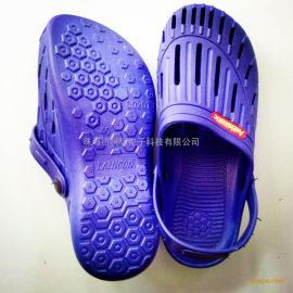 深圳SPU一次性成型柔软舒适拖凉两用蓝色防静电鞋批发