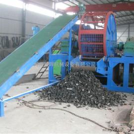 废旧轮胎破碎机厂家 带钢丝轮胎粉碎成橡胶粉