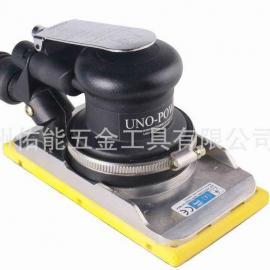 台湾佑能UNO-POWER气动砂纸机 四方形打磨机 中央吸磨头吸尘桶