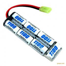 NiMH 2/3A1100mAh 8.4V玩具镍氢电池排型