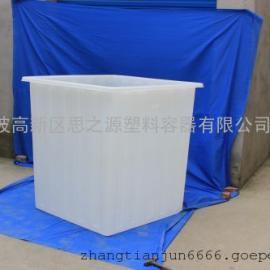 厂家供应纺织用PE方桶 塑料方桶300L升
