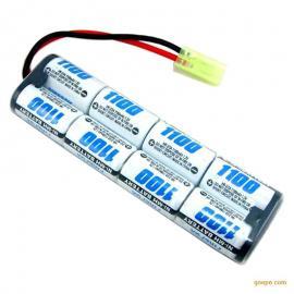 NiMH 2/3A1100mAh 9.6V玩具镍氢电池排型