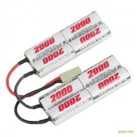 AA2000mAh 9.6V玩具镍氢电池短双胞胎型