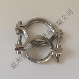 温州生产不锈钢止回阀卡箍/不锈钢冲压止箍/卫生级快装卡箍