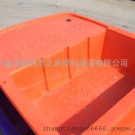 厂家供应6米塑料船 打渔船 保洁船 捕鱼养殖双层滚塑PE船