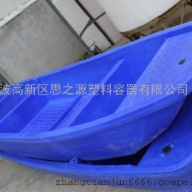 厂家供应4米牛筋塑料渔船防老化渔船抗冲压保洁船