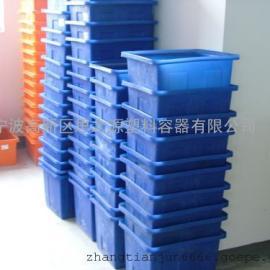 厂家供应连云港160L PE养殖塑料方箱 养鱼塑料箱