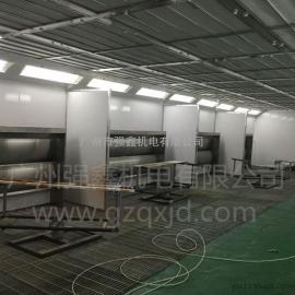 厂家专业设计不锈钢水帘式家具喷漆房 家具烤漆房 无尘家具喷烤连
