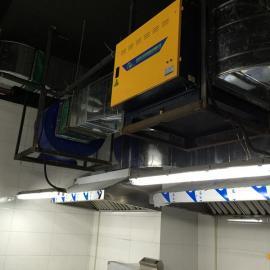 佛山油烟净化器、餐饮厨房油烟净化器、排烟白铁通风工程