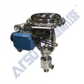 气动角式小流量调节阀 气动角式卫生级调节阀