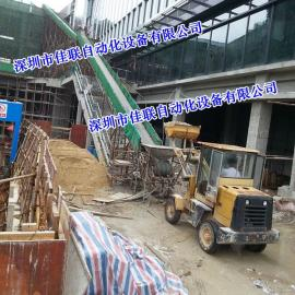 屋顶绿化土方输送机_楼顶绿化专用水泥沙子输送设备