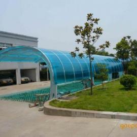 青岛车棚 雨棚 温室大棚 阳光板 安装
