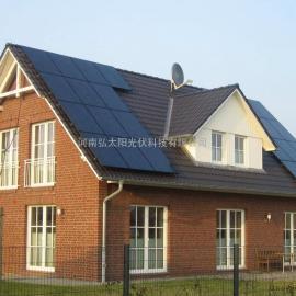 供应山西屋顶太阳能发电5kw光伏并网系统,5kw分布式光伏发电站