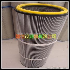 防静电粉尘滤筒厂家|型号350x750防静电除尘滤芯