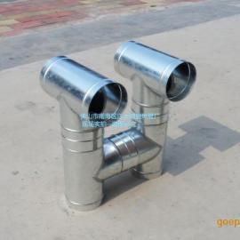 江大螺旋风管厂丨专业加工生产镀锌螺旋风管丨镀锌异形多接头