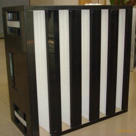 厂家供应鼎瞻净化空气过滤器V型大风量高效过滤器初中高效率