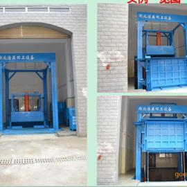 厂家供应 侧翻垂直垃圾压缩机成套设备 垂直式垃圾中转站