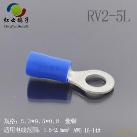 冷压圆环端子 绝缘端子接线端子铜鼻子叉型端子报价