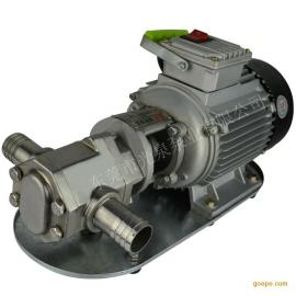 齿轮油泵 自吸式机油柴油输送泵 耐高温 wcb高粘度泵