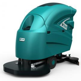 无锡商场用洗地机 手推式全自动洗地吸干机
