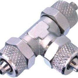 锁紧式气管接头 三通螺母锁紧接头BRUT