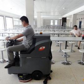 武汉中型驾驶式洗地机 电瓶驾驶式洗地车 车间工厂地面洗地机
