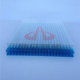 四层阳光板10毫米12mm遮阳挡雨采光顶抗紫外线