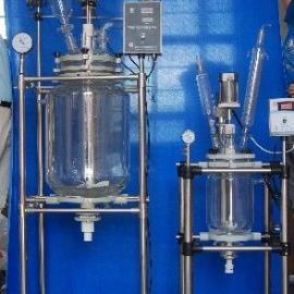 陕西双层玻璃反应釜价格 批发 供应 谷瀑环保