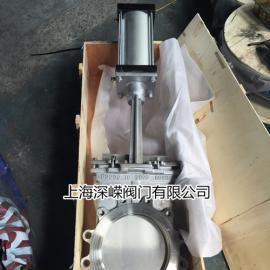 气动耐高温刀型闸阀 ,2520材质耐磨耐高温刀闸阀