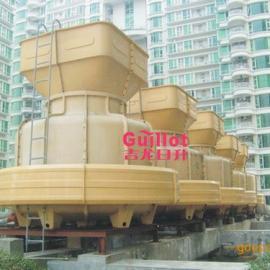 100冷吨超低噪音圆形逆流玻璃钢冷却塔  空调设备