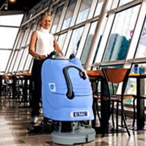 美国进口EMC洗地机RUBY50小型手推式洗地机
