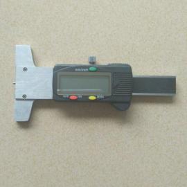 供应数显0-30mm广陆轮胎花纹深度尺