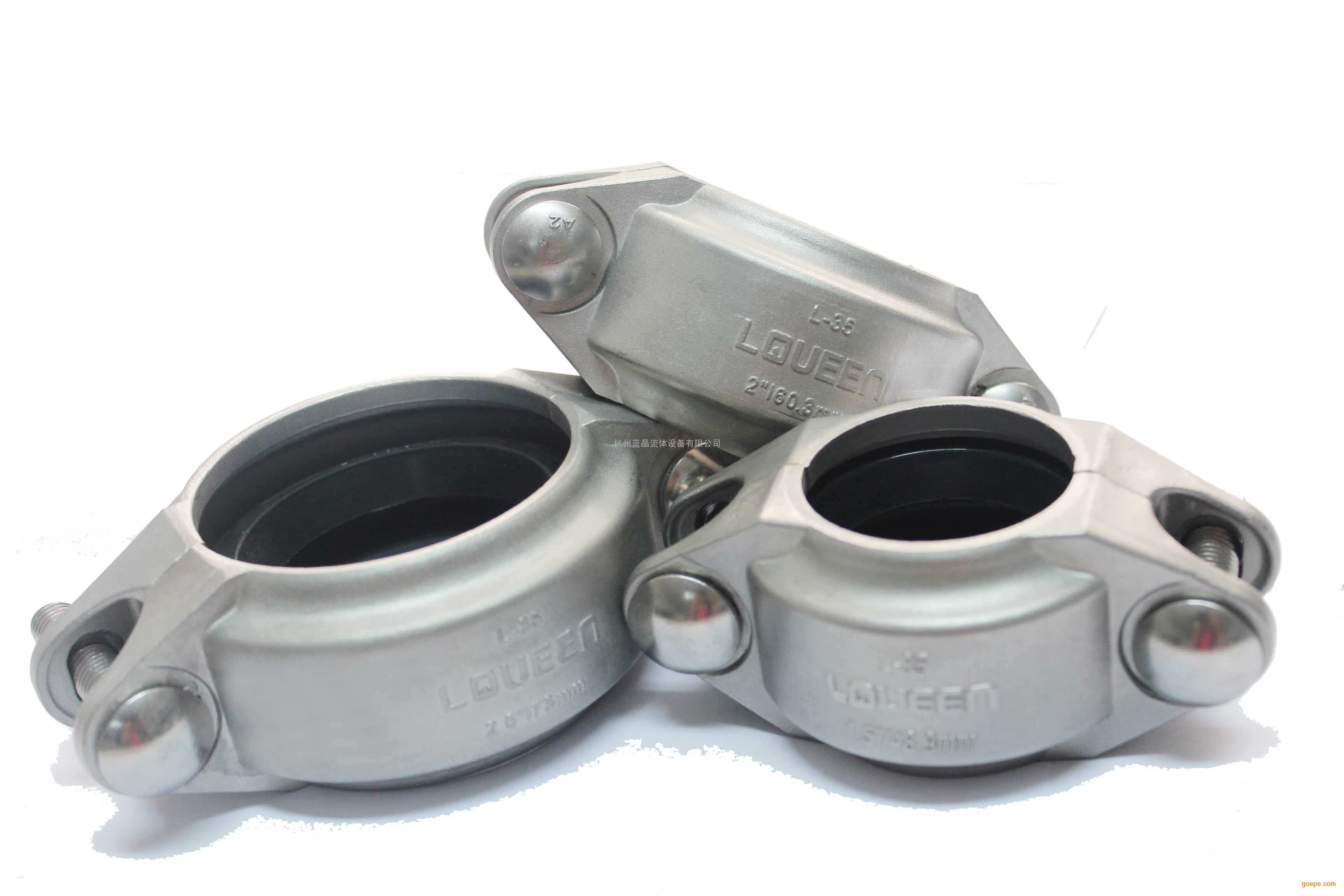 美标不锈钢卡箍适用水处理管道连接