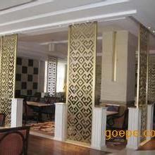 酒店园林镀铜铜铝花格,红古铜镂空雕花背景隔断屏风