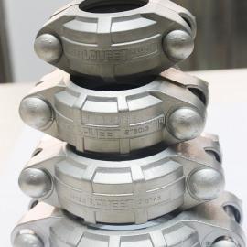 现货DN50不锈钢沟槽卡箍 60.3不锈钢拷贝林 不锈钢消防卡箍厂家