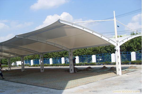 上海车棚设计,上海膜结构雨棚,上海停车棚制作