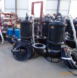 企业沉淀池清理选用ZNQ型耐磨潜水泥浆泵,污泥泵,污水泵