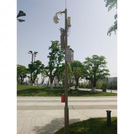 陕西安小区安防圆柱空心立式视频监控杆安装配