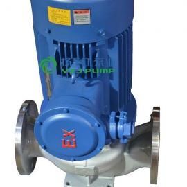 管道泵:IHG防爆不�P�耐腐�g管道泵|不�P�立式管道泵