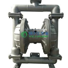 隔膜泵:QBY型不锈钢F46膜片气动隔膜泵,王水泵,丁酸泵