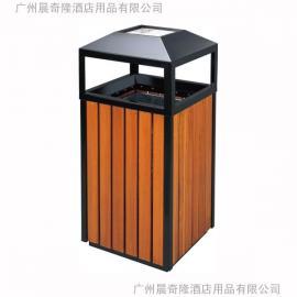 供应晨奇隆GPX-72公园锥顶垃圾桶广州木条垃圾桶生产厂家